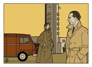 Delius dessinateur Louis Jouvet dessin bistre