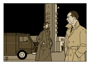 Delius dessinateur Louis Jouvet dessin sépia nocturne